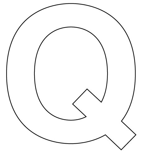 q coloring pages for preschool - photo #17