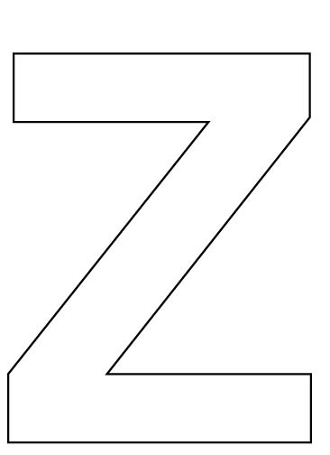 ... do they see? Introduce the Letter Z. Cut out the large Letter Z