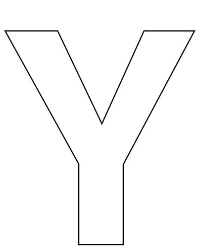 large letter y for your child to cut out