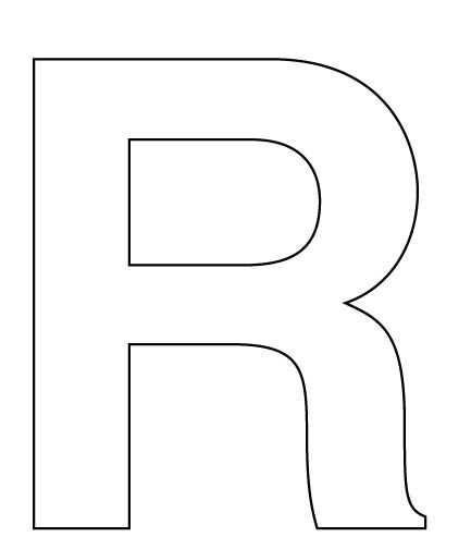 Worksheets Large Letters To Print And Cut Out letter cutouts alphabet black wood make a large r for your