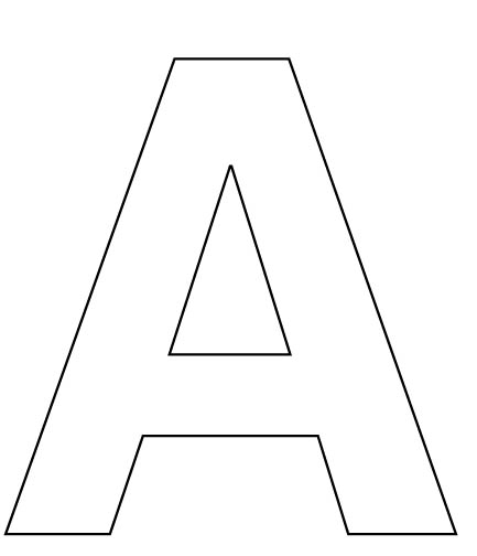 letter a for your child to cut out