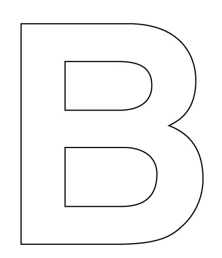 Letter B For Your Child To Cut Out