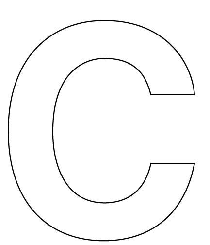 Preschool pioneer uen for Large letter c template